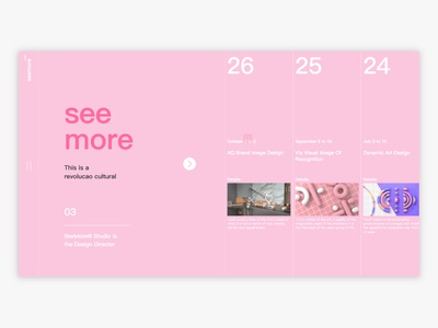 studio web project ux illustration web pink c4d ui design
