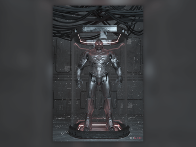 Machine black 3d c4d ui design