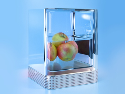 Apple can float purple 3d c4d ui design