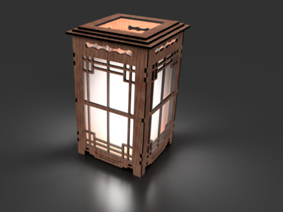 Mission Style Lamp 3D render from Fusion 360
