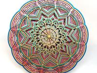 Rainbow Mandala Layered Art Piece