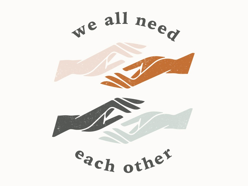 we all need each other vector minimal illustration typography inclusion we all need each other t shirt design t shirt