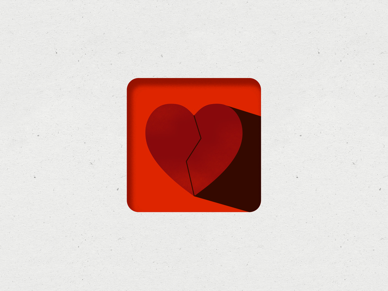 Nehemiah Study symbol icon church branding heart logo paper texture red heart illustration heart symbol texture heart