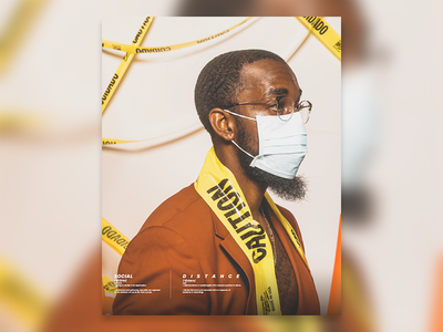 Quarantine caution self portrait photography layout typeface typography quarantine design atlanta