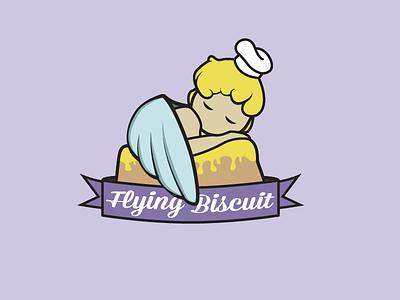 Flying Biscuit Rebranding logo icon baby biscuit wings restaurant illustration foodie food chef angel breakfast