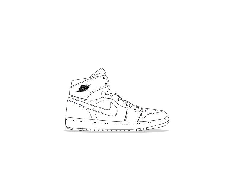 online retailer a6862 1d492 Jordan 1 Outline