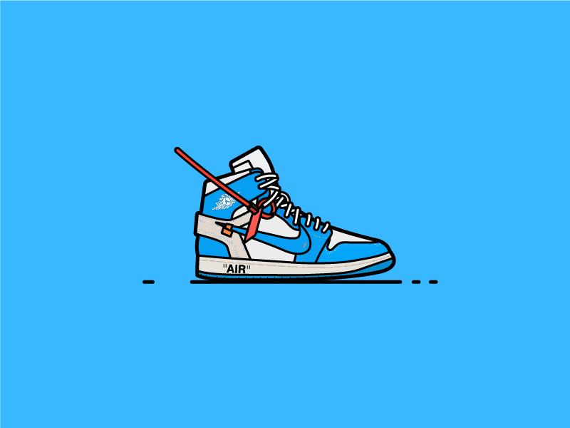 "Off White Jordan 1 ""UNC"" atlanta air nike shoes fashion off white jordan air jordan sneakers sneakerhead"