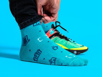 Sox! 🧦 clothes atl atlanta patterns coffee photography camera nike merch swag socks