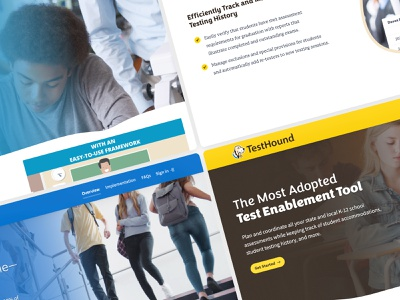 Education Advanced Product Pages uidesign ui edtech