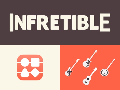 Infretible Palette and Elements infretible banjo ukulele bass guitar program palette identity logo