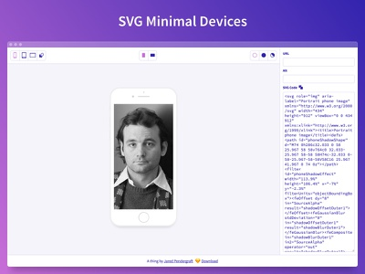 SVG Minimal Devices Tool source sans freeform browser ipad iphone minimal svg