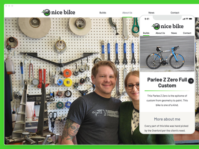 Nice Bike website barlow website ui design cycling