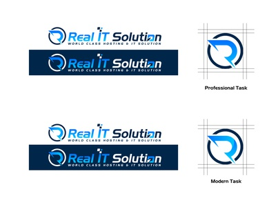 Real IT Solution Logo Design modern logo ux ui design logos logodesinger logotype logoinspiration logo design logo