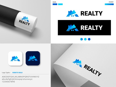 Realty Logo Design Project visual identity visual ui rebrand illustration