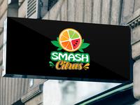 Smash Fruits Juice Logo