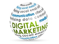 Digital Marketing Info-graphic 3D Circle