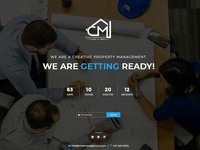 Website Coming Soon PSD Landing Page Design