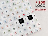 200 Logo Vector Template Set Collection