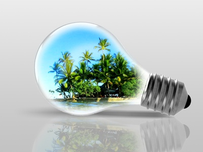 Photo Manipulation with Bulb and Island
