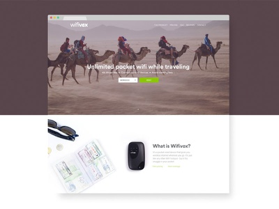 Wifivox Web wifi travel landing page website web design ux ui