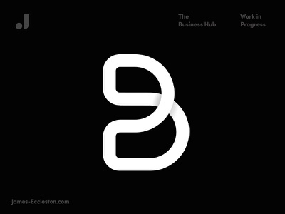 The Business Hub monoline typography logo  mark identity geometric branding logo