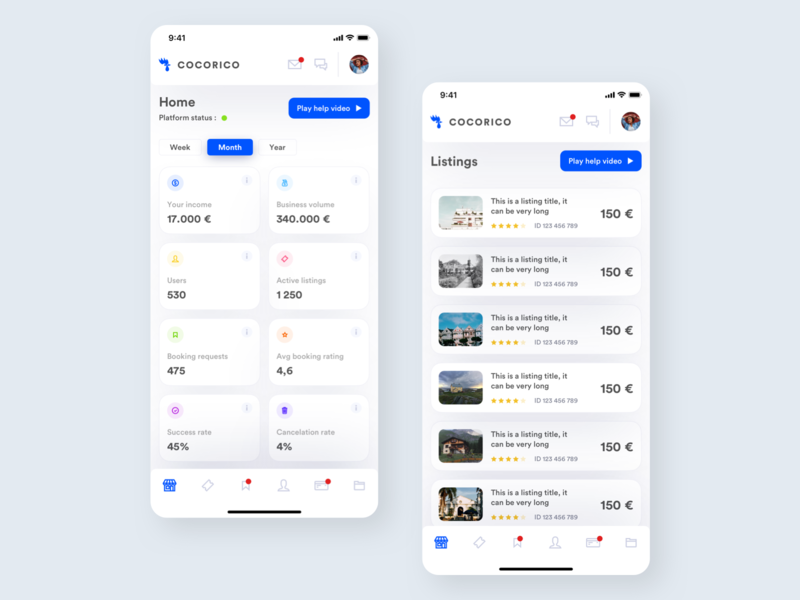 Dashboard Mobile Concept