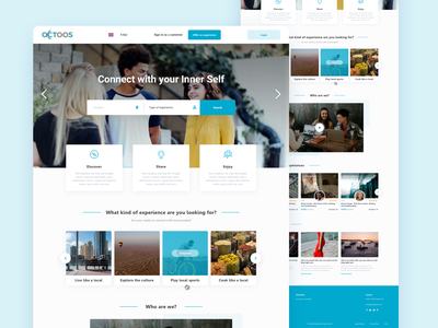 Octoos Marketplace activity activities discover location branding web marketplace sketch webdesign interface ux ui design