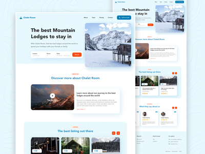 Chatel Rental Marketplace Concept search ski snow mountain rental lodge chatel web colorful marketplace app sketch webdesign interface ux ui design