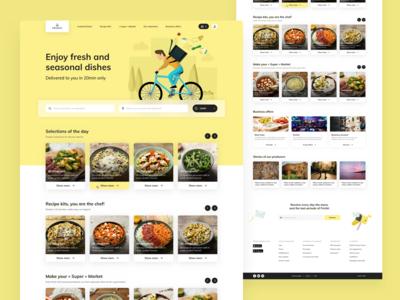 Frichti Homepage Redesign