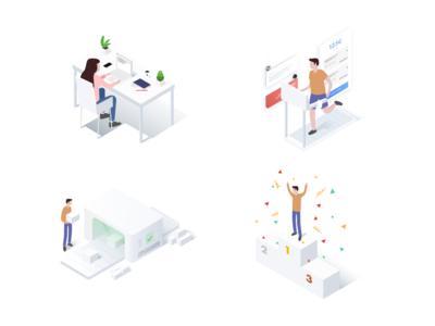 Marketplace illustration set