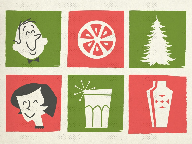 1960s Holiday Card Cover by Molly Woods on Dribbble