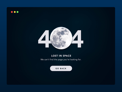 Daily UI #008 | 404 Page