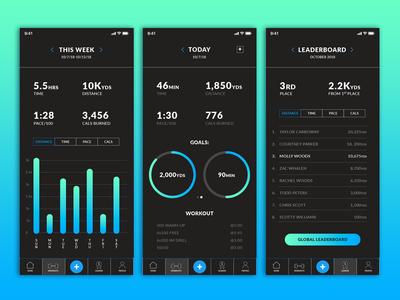 Swim App Screens