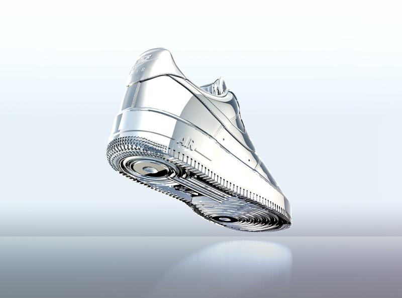 AF1 RENDER maxon otoy octane c4d 3d nike shoes af1