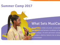 MusiCan Summer Camp Header Design