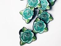 Teal Rose Pin