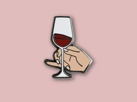Pinky's Out Wine Glass