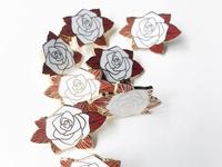 White Rose Hard Enamel Pin
