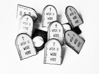 Wish U Were Here Pin