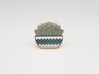 Succulent Plant Pin