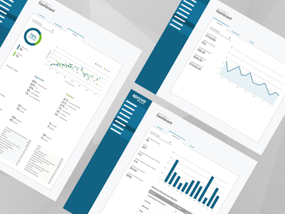 Merchant Dashboard responsive infographics data charts dashboard