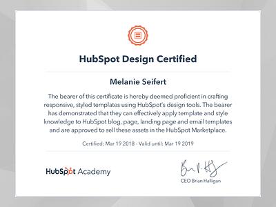 Hubspot Certification certification