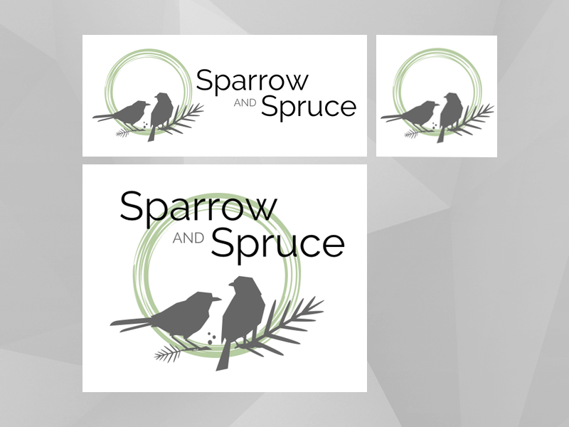 Logodesign sparrow and spruce