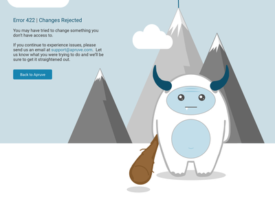 Error 422: Changes Requested svg responsive error page
