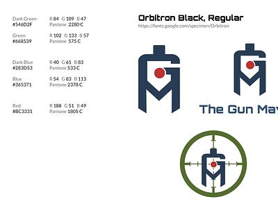The Gun Maven vector svg logo ui