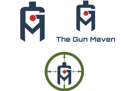 The Gun Maven vector svg logo ui