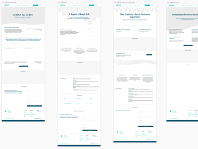 Wireframes for Apruve Wordpress Rebranding sketch low fidelity design wireframes