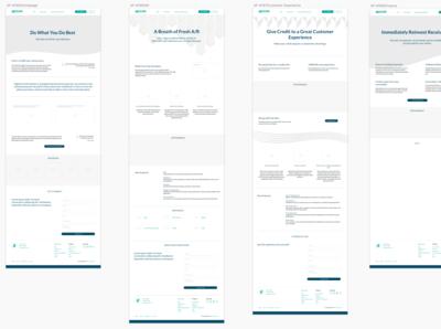 Wireframes for Apruve Wordpress Rebranding