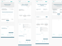 Wireframes for Apruve Wordpress Rebranding