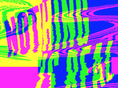 NOTHING IS REAL rgb typography glitch